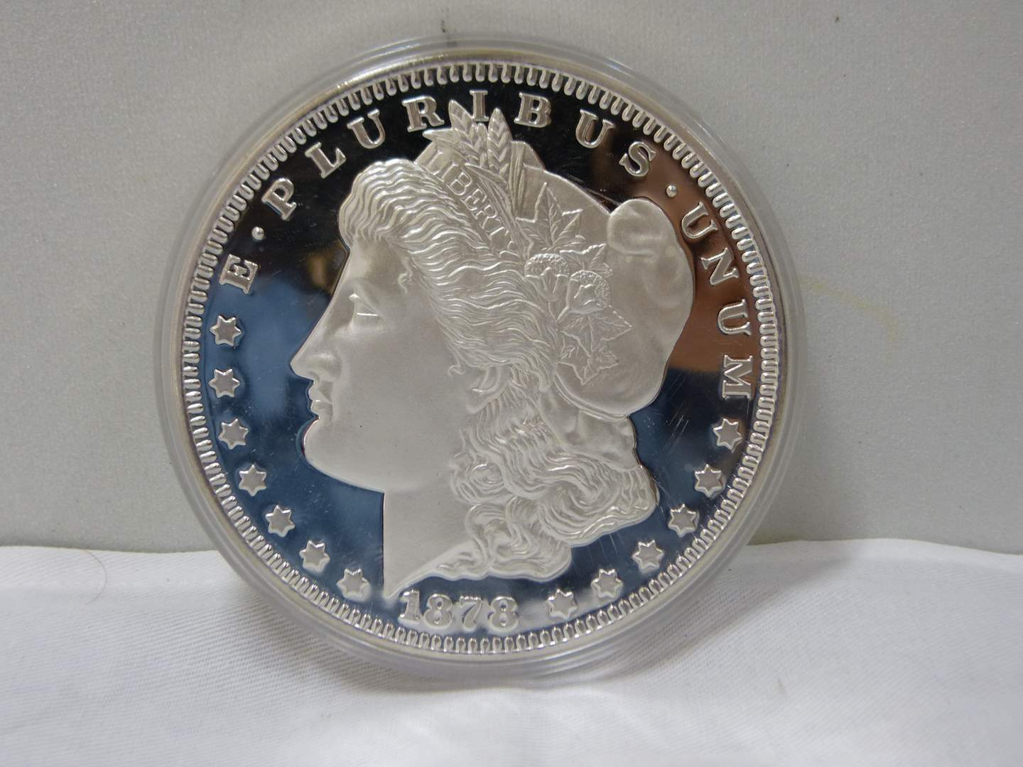 Lot # 201  WOW Limited Edition #00300 1/2 POUND PURE SILVER Morgan (YES HALF POUND) (main image)