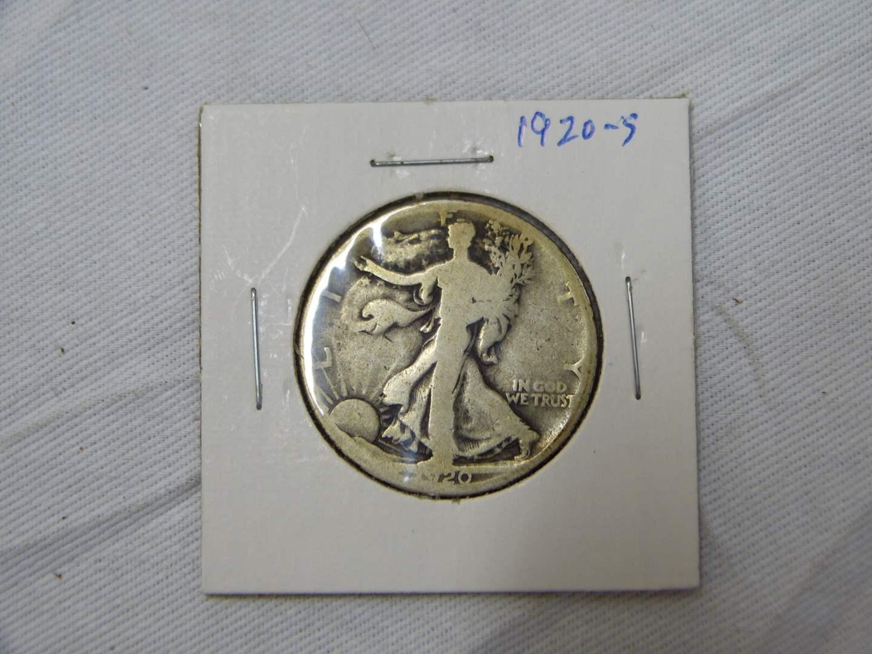 Lot # 204  US 1920 Walking Liberty silver half dollar