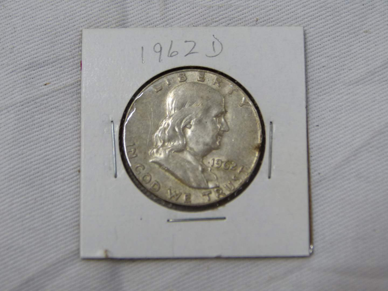 Lot # 205  Great coin 1962-D Franklin silver half dollar dollar