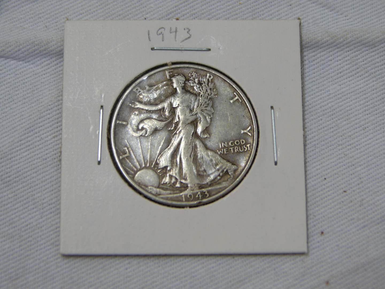 Lot # 208  1963-D silver US Franklin half dollar (main image)