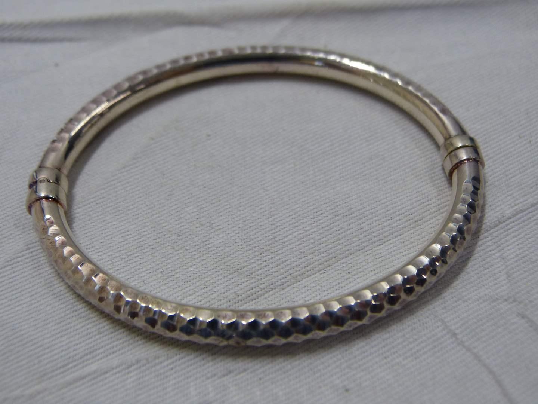 Lot # 227  Designer sterling silver bracelet with magnetic clasp