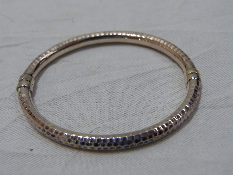 Lot # 228  Designer sterling silver bracelet with magnetic clasp