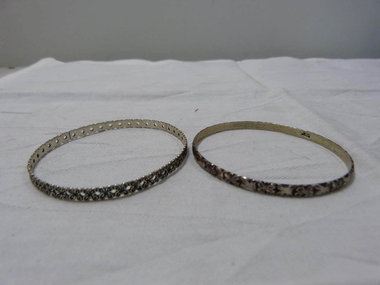 Lot # 229  2 sterling silver bracelets  (main image)