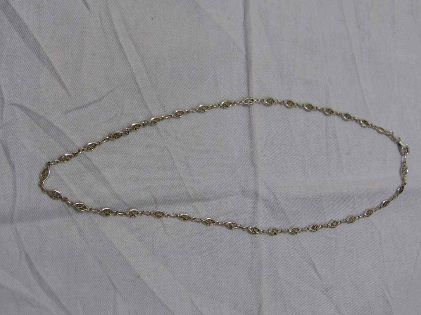 """Lot # 238  18"""" sterling silver link necklace"""