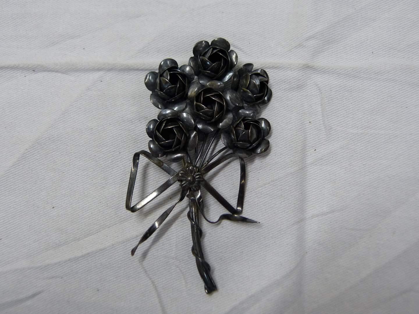 """Lot # 240  AWESOME & VINTAGE large 4"""" sterling silver CORO RARE brooch"""