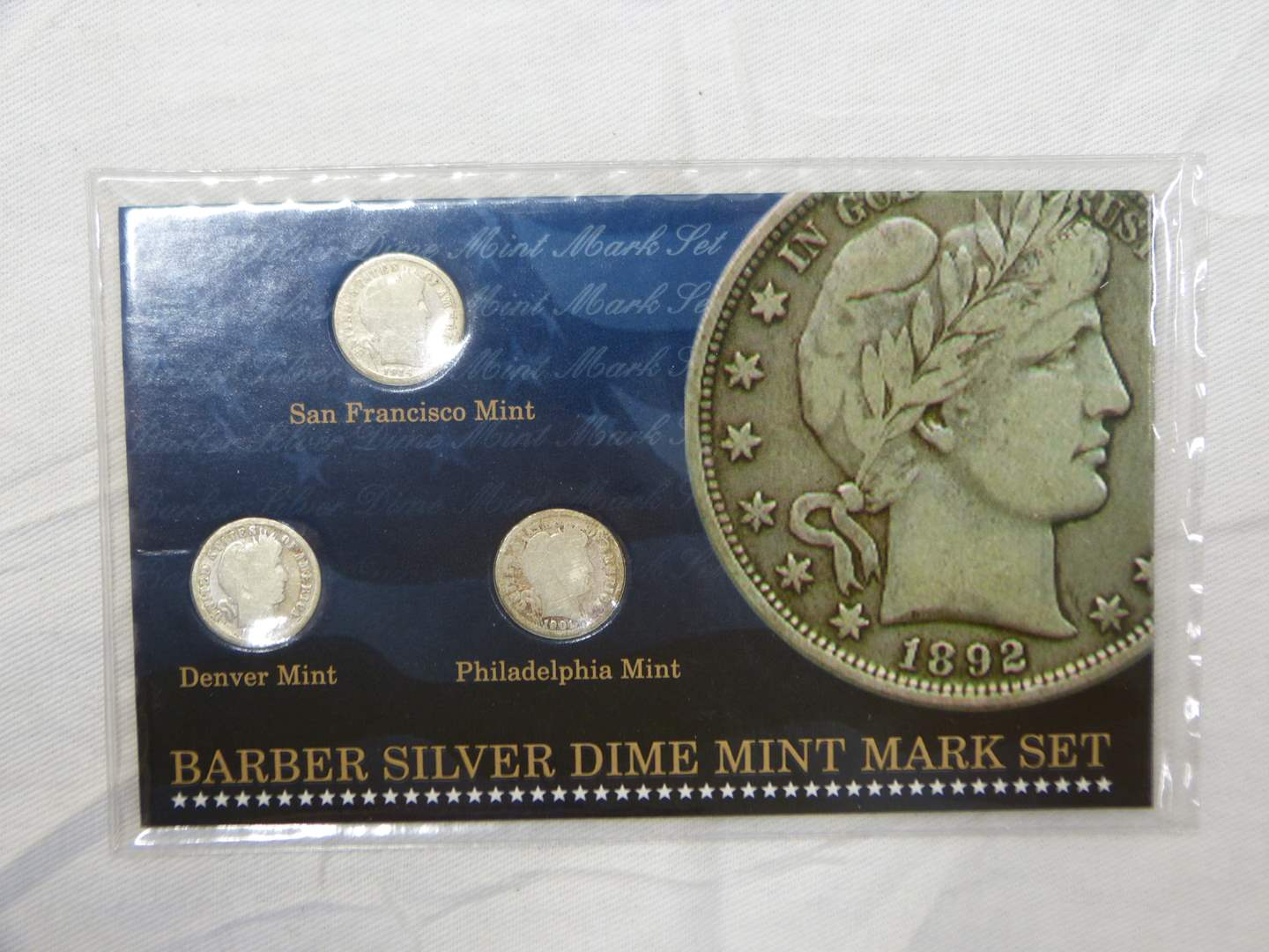Lot # 253   Barber Silver dime collection (main image)