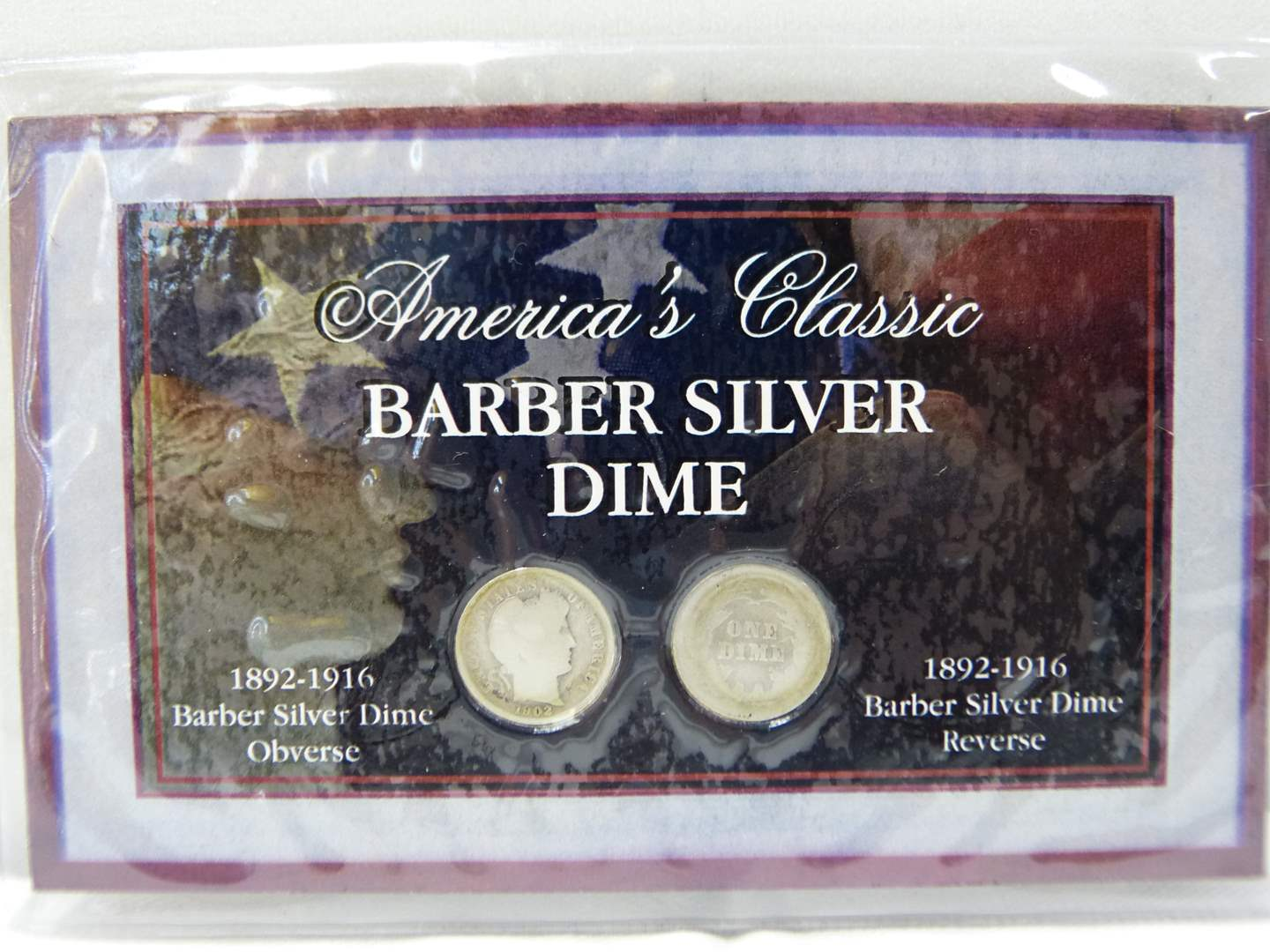 Lot # 258  America's Classic Barber Silver dime collection