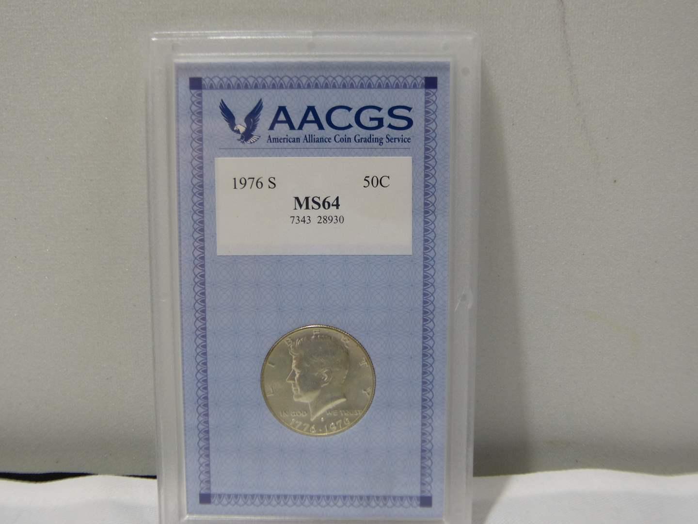 Lot # 259  1976-S Kennedy Half Dollar HIGH grade & slabbed