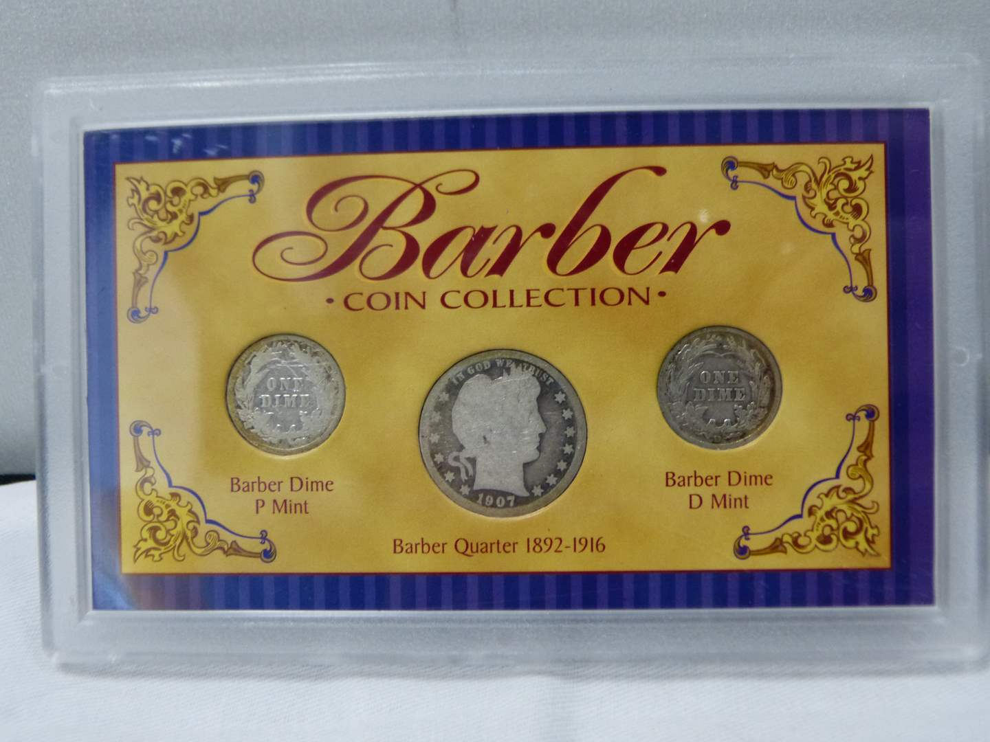 Lot # 262  Barber Silver dimes & quarter great collectible (main image)
