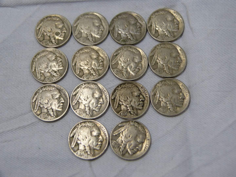 Lot # 265  Nice lot of US Buffalo Nickels (main image)