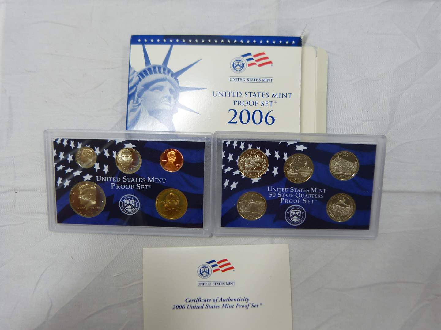 Lot # 270  2006 United States Proof Set to include Proof state quarters (main image)