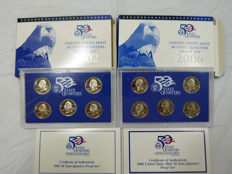 Lot # 271  2002 & 2006 State PROOF quarters set