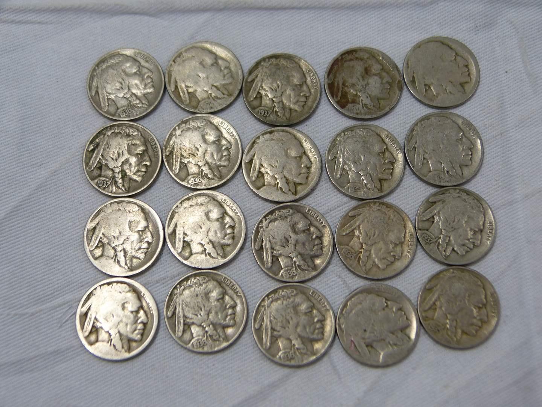 Lot # 273  Large lot Buffalo Nickels (main image)