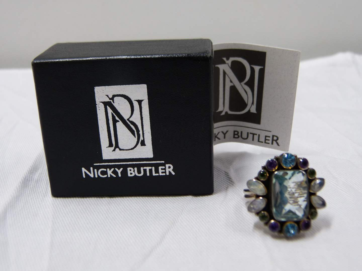 Lot # 279  Beautiful Sterling Silver Nicky Butler Size 10 ring (main image)