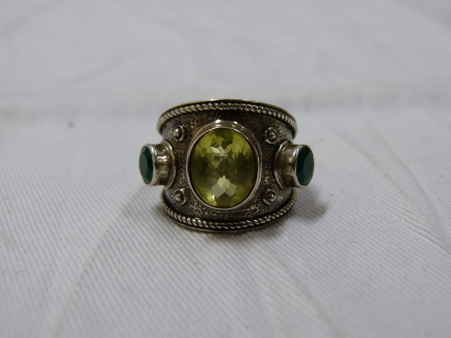 Lot # 280  Nicky Butler Sterling Silver size 7 1/2 ring (main image)