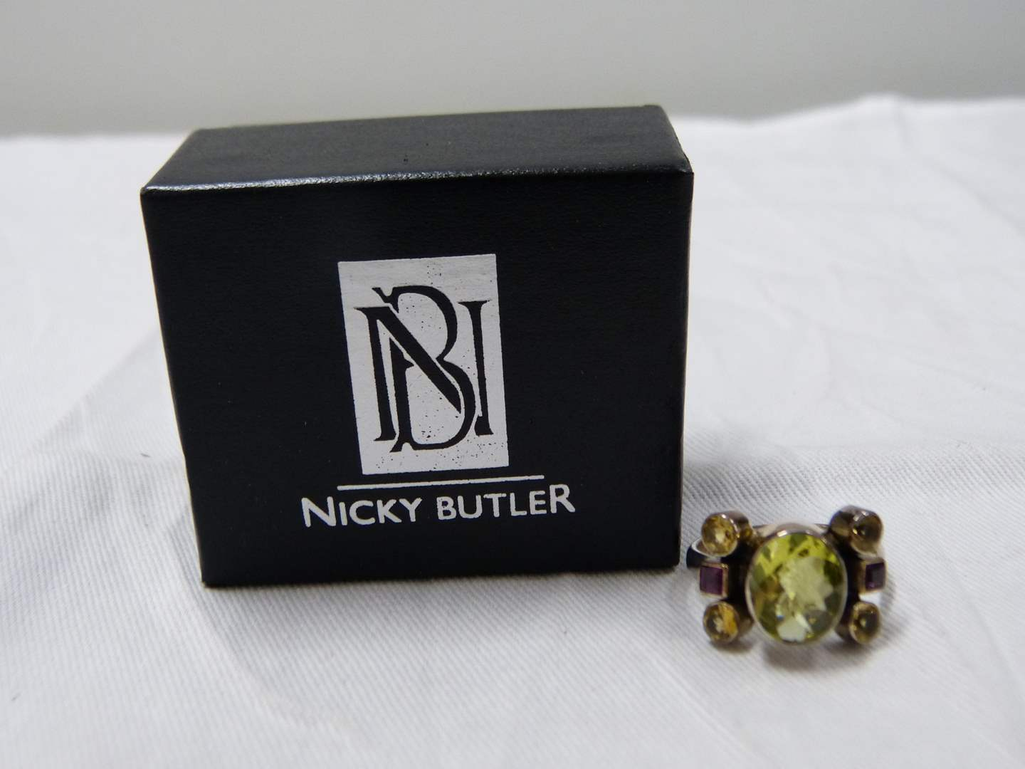 Lot # 281  Like new Nicky Butler sterling silver size 10 ring (main image)