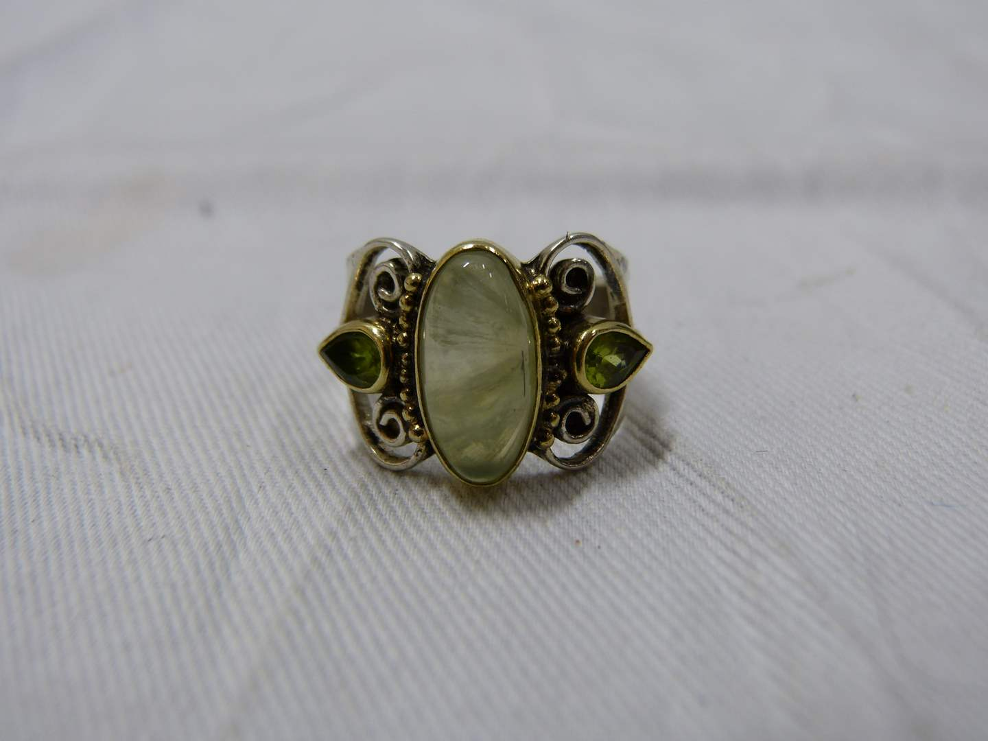 Lot # 282  Designer sterling silver size 8 ring (main image)