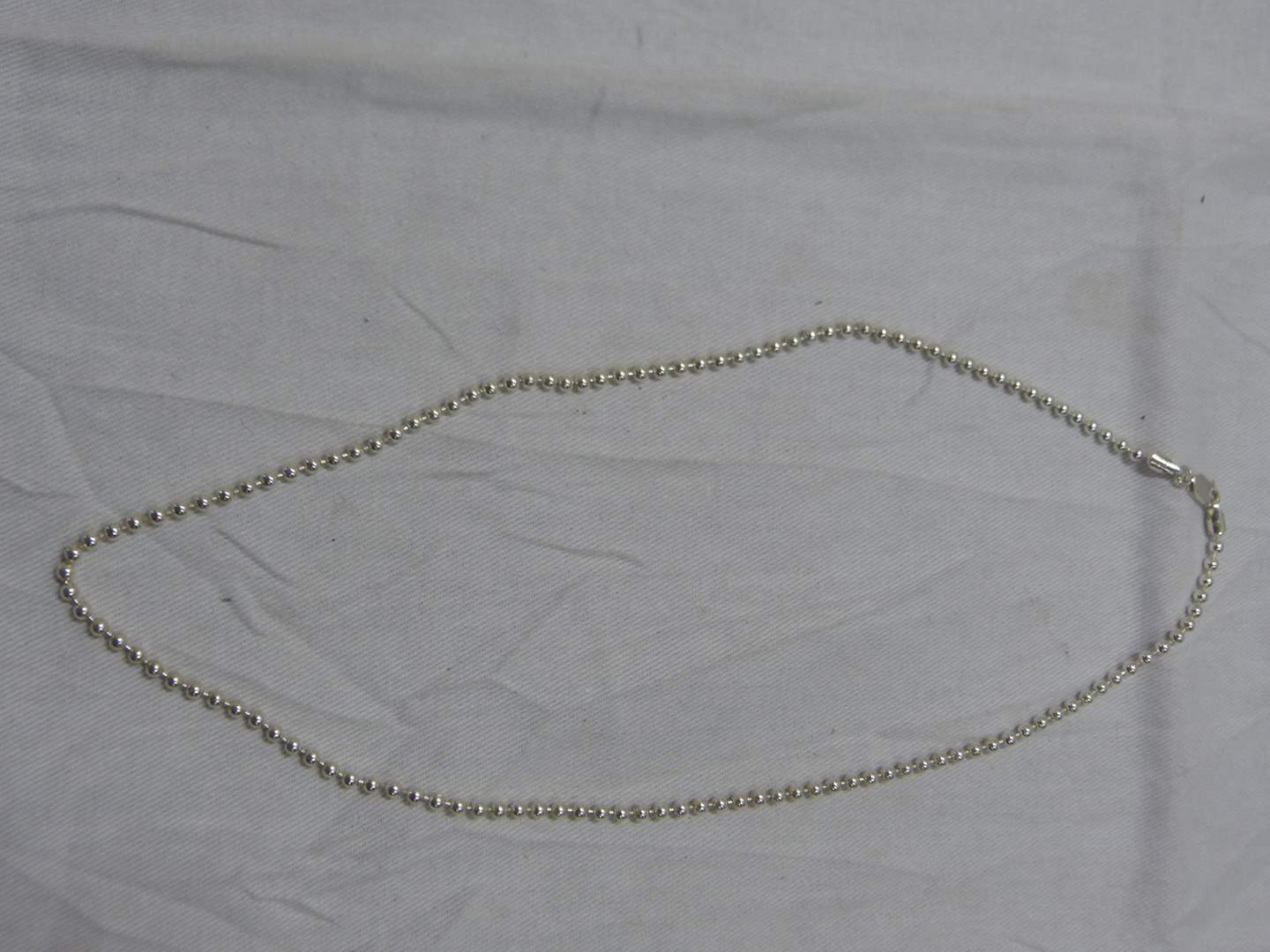"""Lot # 288  Sterling silver 16"""" necklace (main image)"""