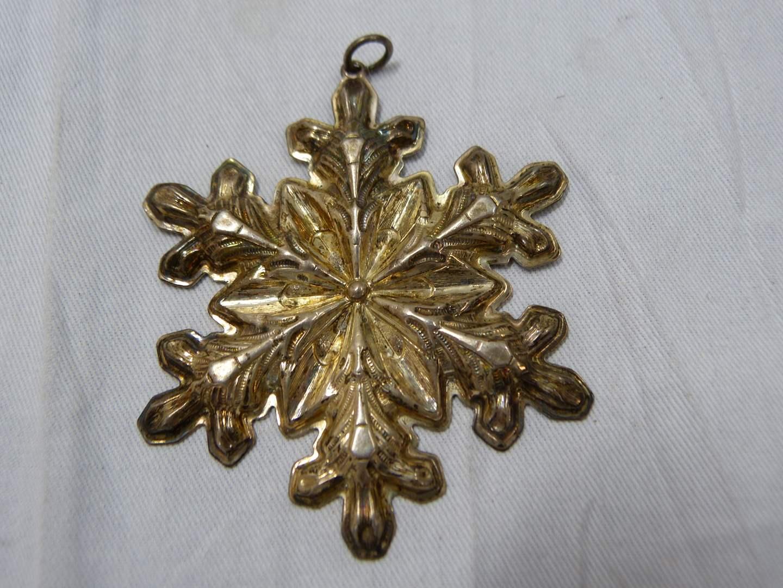 Lot # 298  Gorham Star sterling silver Christmas Ornament