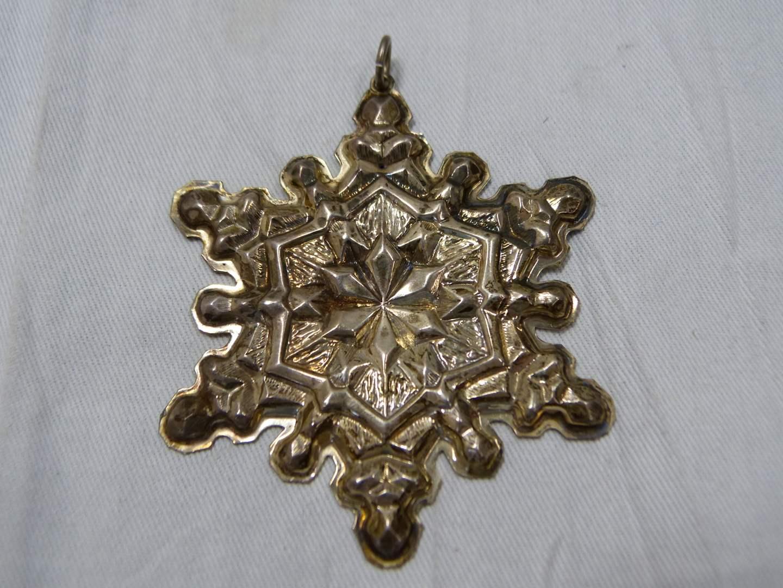Lot # 299  Gorham Star sterling silver Christmas Ornament