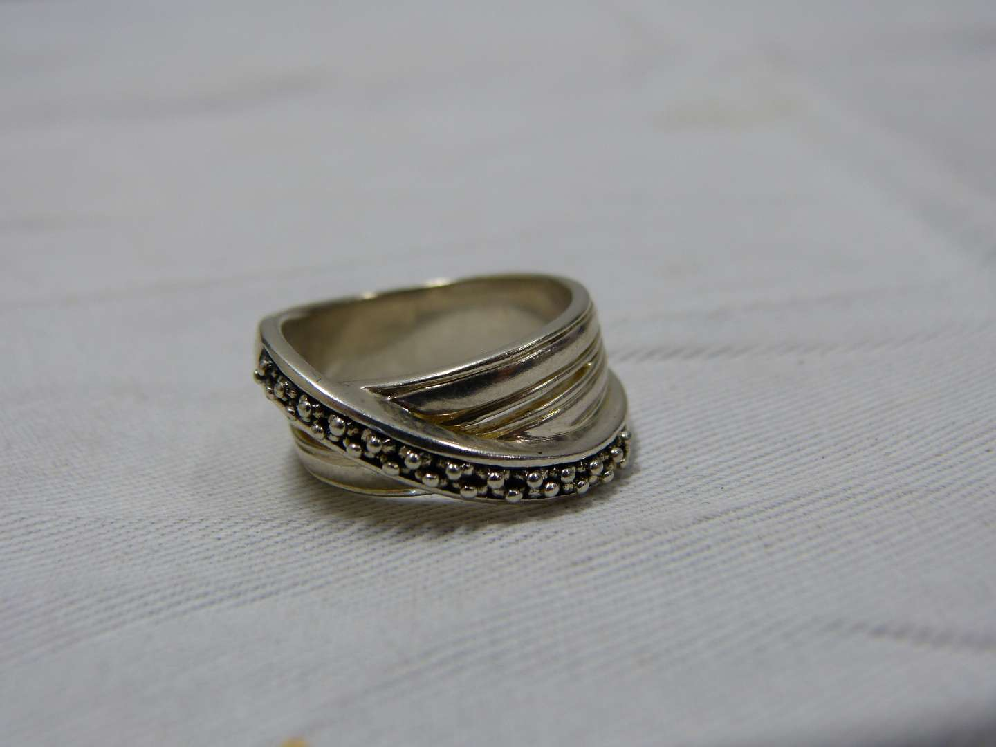 Lot # 97  Sterling silver ring size 9