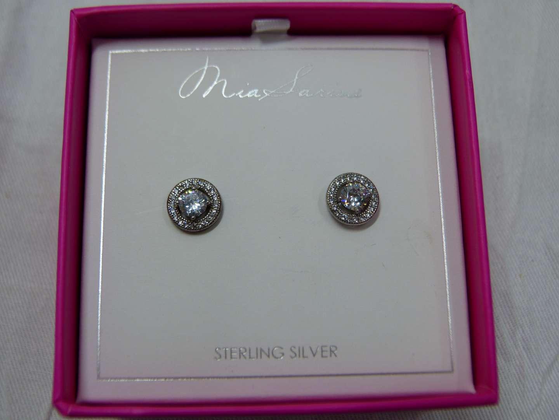 Lot # 300 New Sterling silver earrings