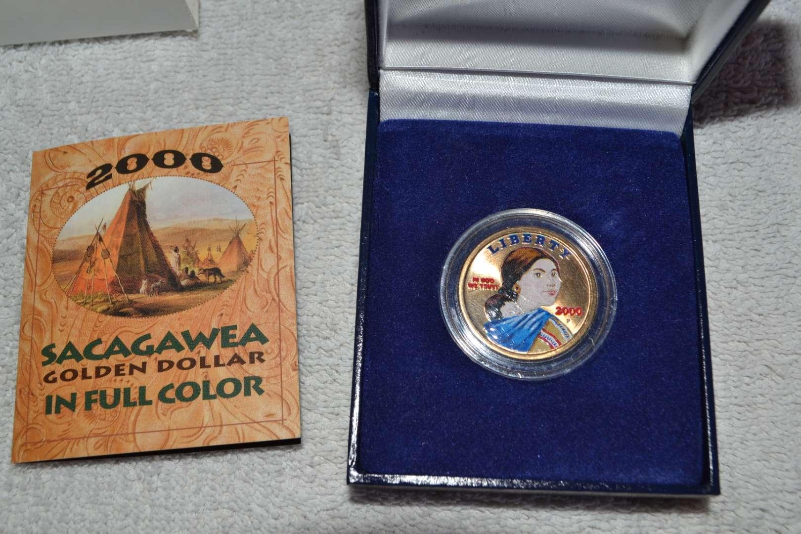 Lot # 19 2000 COLORIZED SACAGAWEA DOLLAR