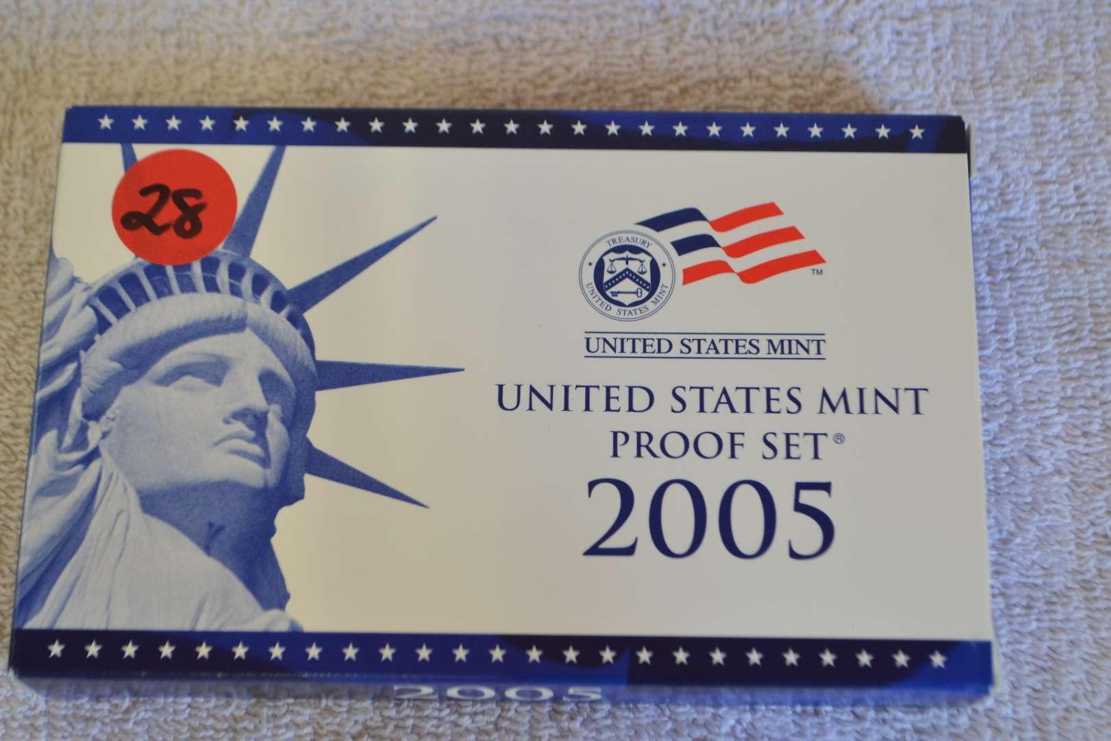 Lot # 28 2005 UNITED STATES PROOF SET