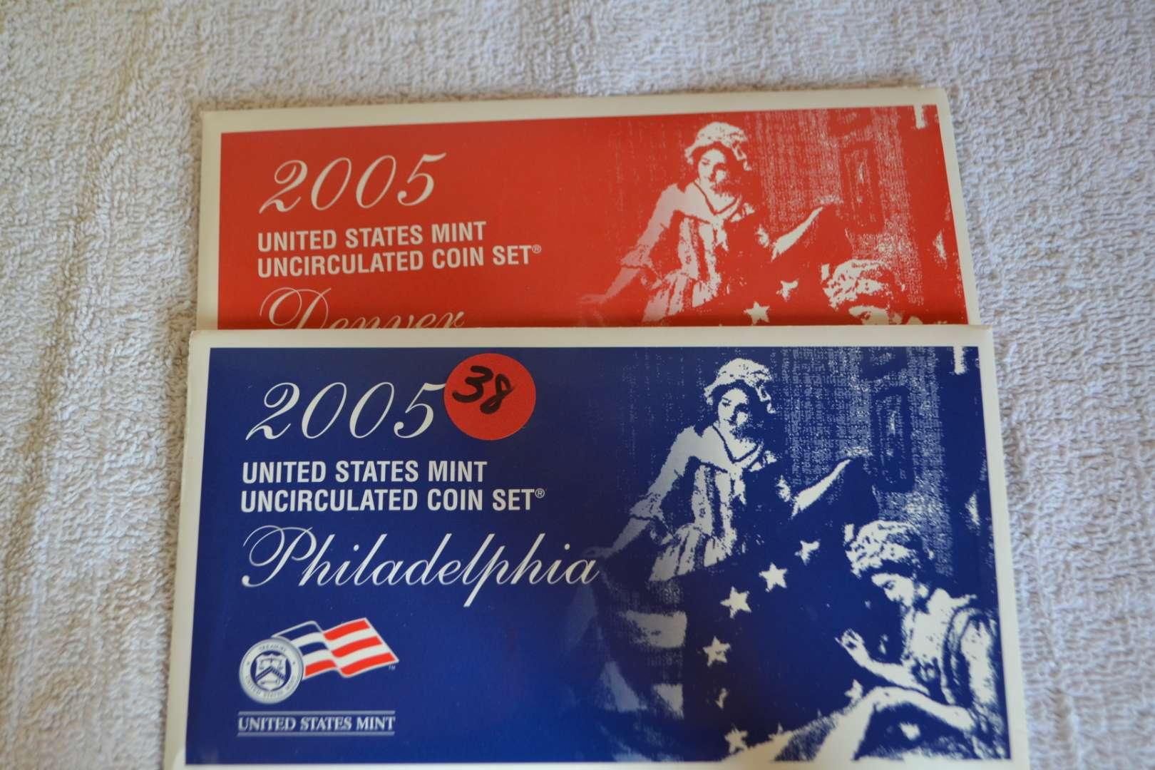 Lot # 38 2005 UNITED STATES MINT UNC COIN SET P&D
