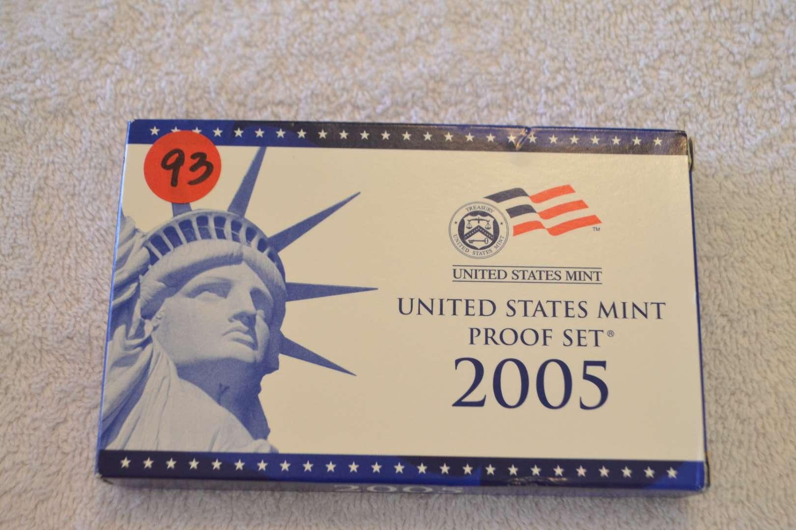Lot # 93 2005 UNITED STATES MINT PROOF SET