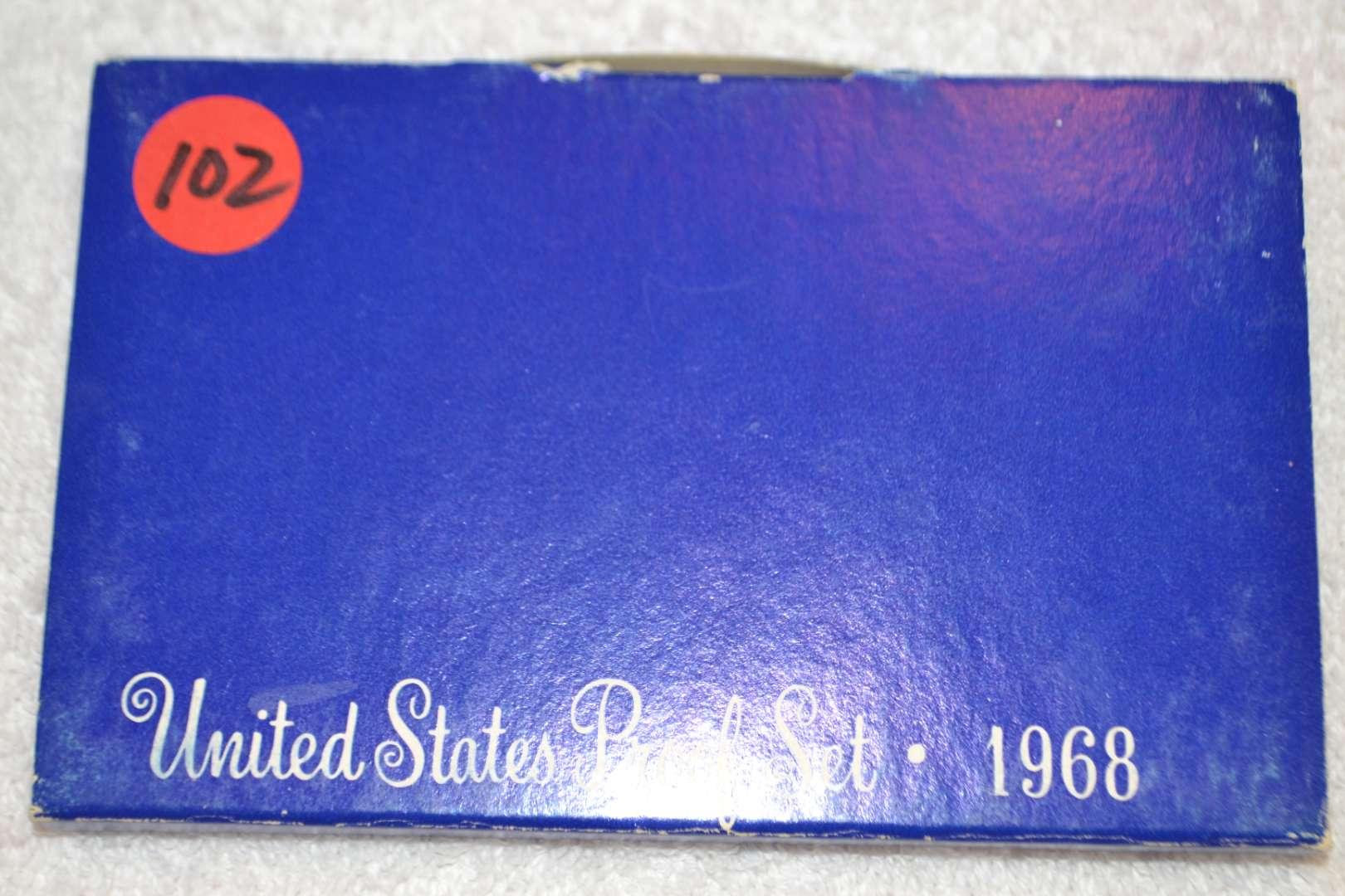 Lot # 102 1968 UNITED STATES PROOF SET