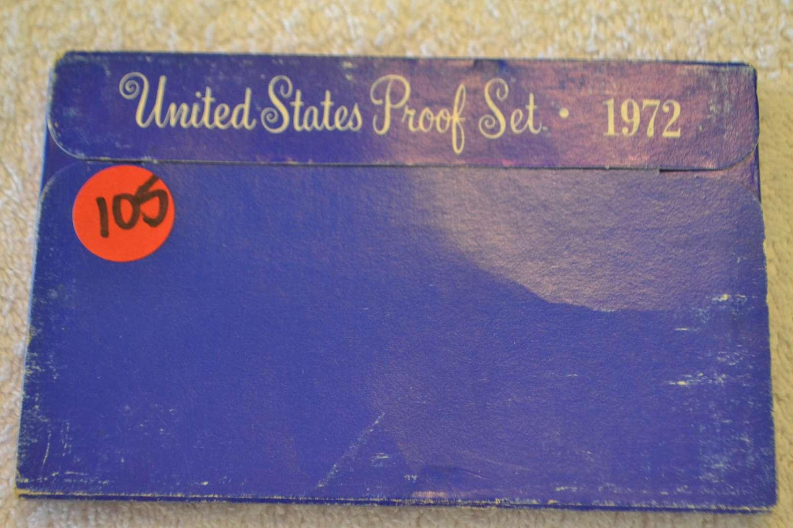 Lot # 105 1972 UNITED STATES PROOF SET