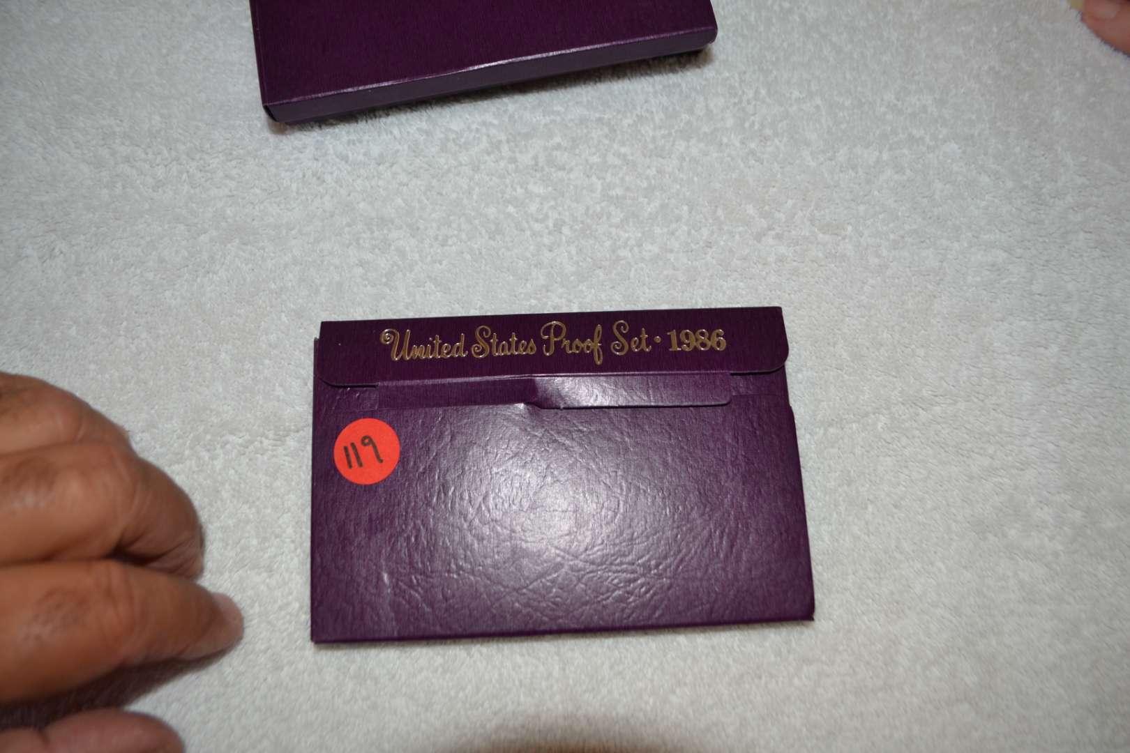 Lot # 119 1986 UNITED STATES PROOF SET