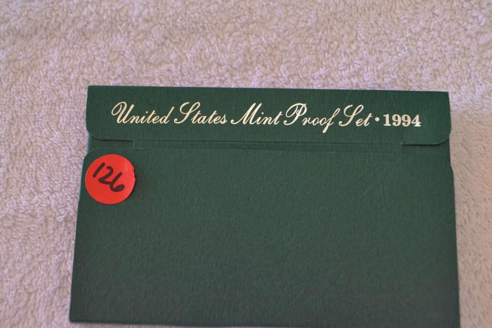 Lot # 126 1994 UNITED STATES PROOF SET
