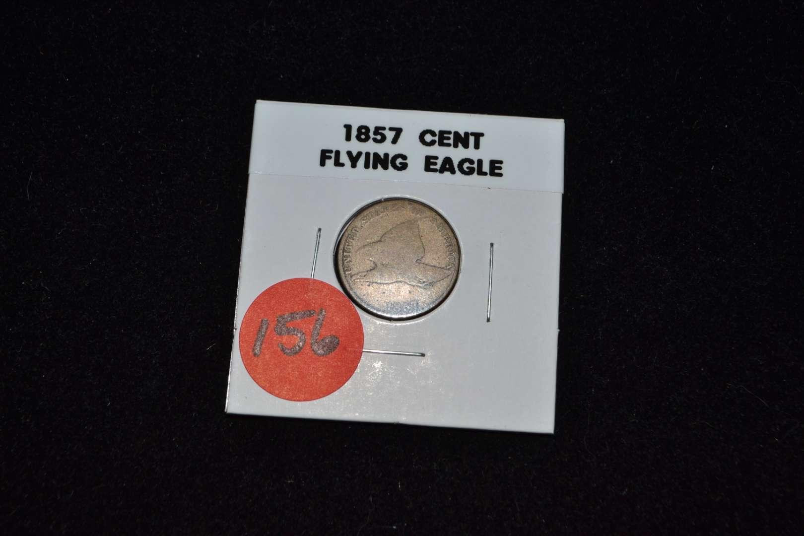 Lot # 156 1857 CENT FLYING EAGLE