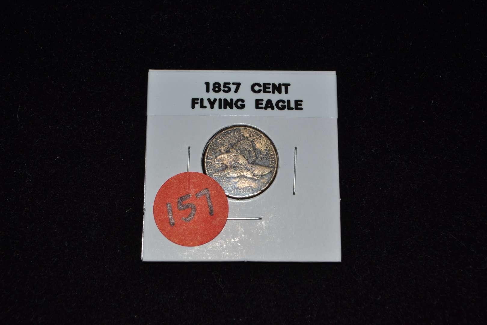 Lot # 157 1857 CENT FLYING EAGLE