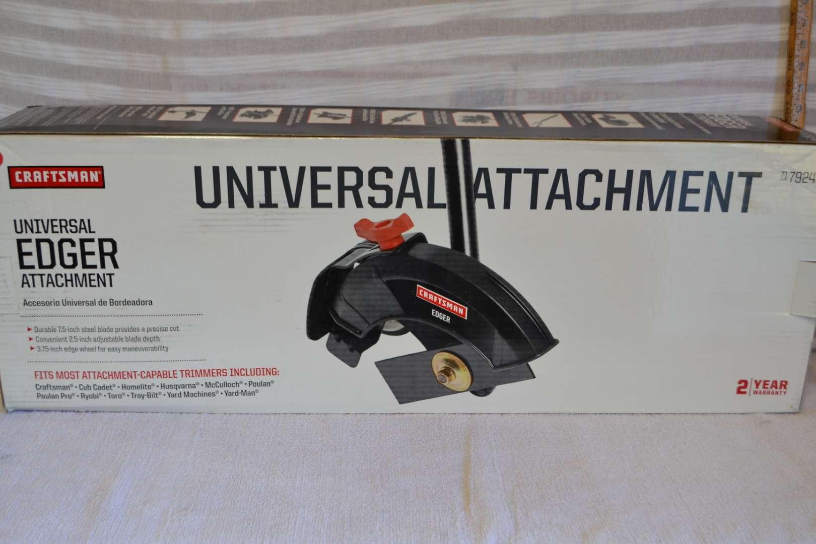Lot # 165 CRAFSTMAN UNIVERSAL EDGER ATTACHMENT