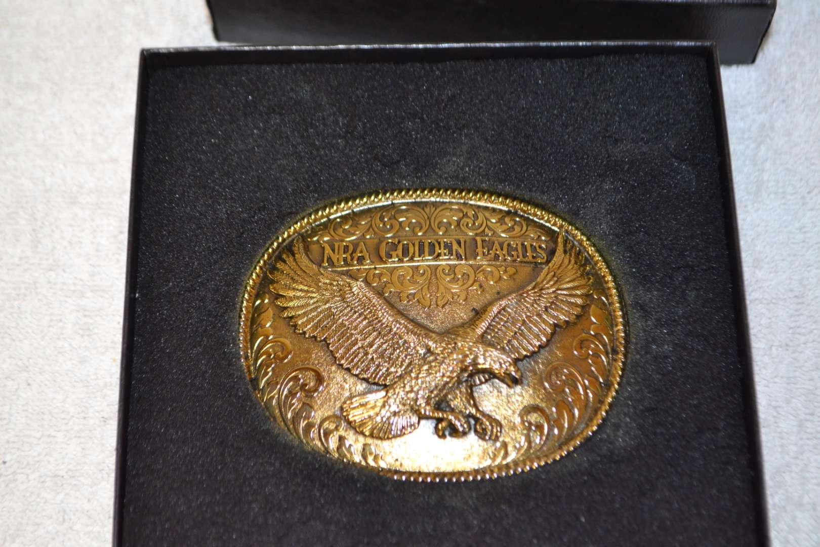 Lot # 172 NRA GOLDEN EAGLE BELT BUCKLE