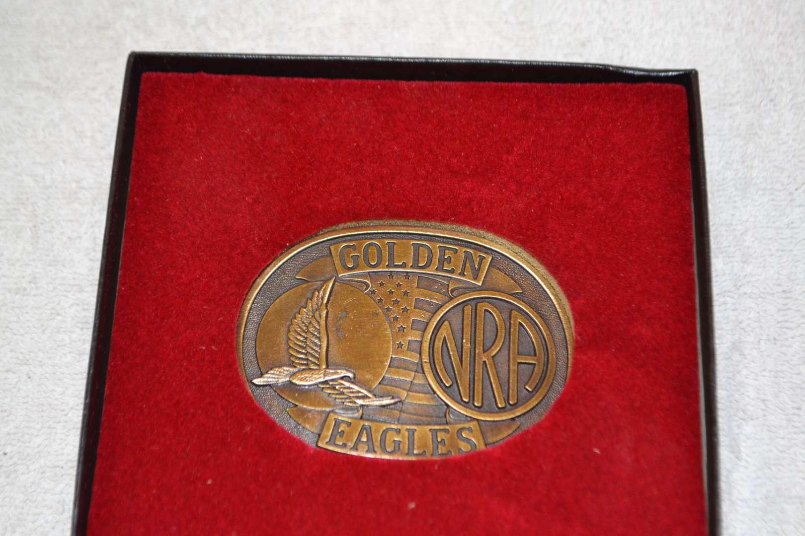 Lot # 173 NRA GOLDEN EAGLE BELT BUCKLE