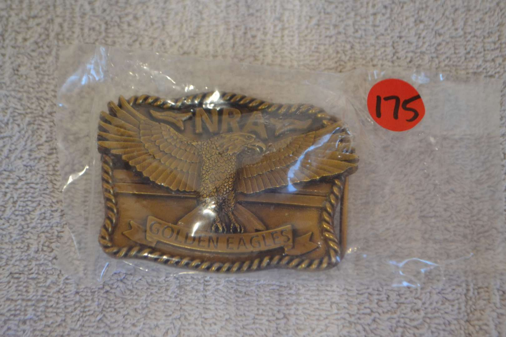 Lot # 175 NRA GOLDEN EAGLE BELT BUCKLE