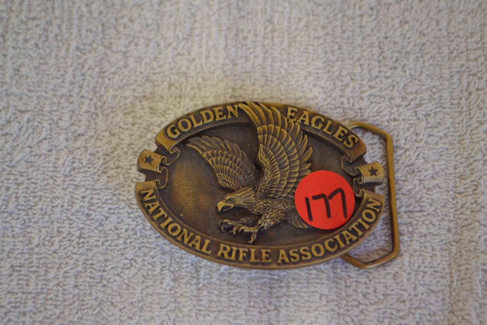 Lot # 177 NRA GOLDEN EAGLE BELT BUCKLE