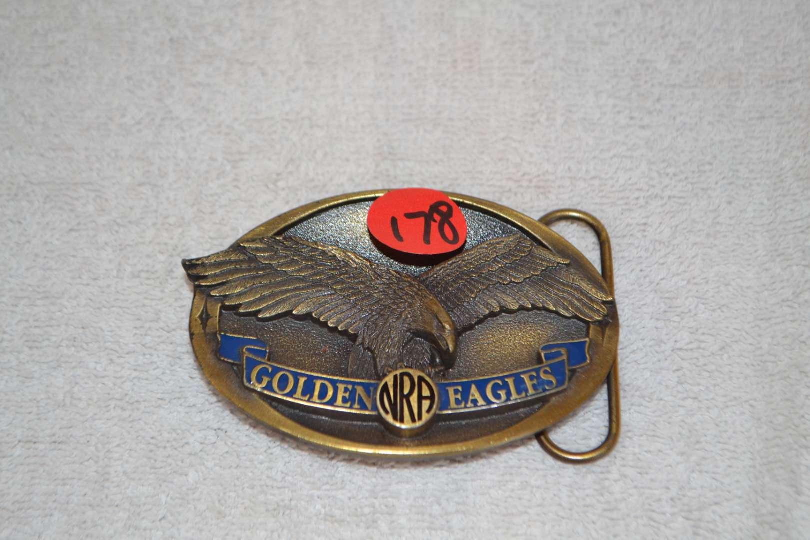 Lot # 178 NRA GOLDEN EAGLE BELT BUCKLE
