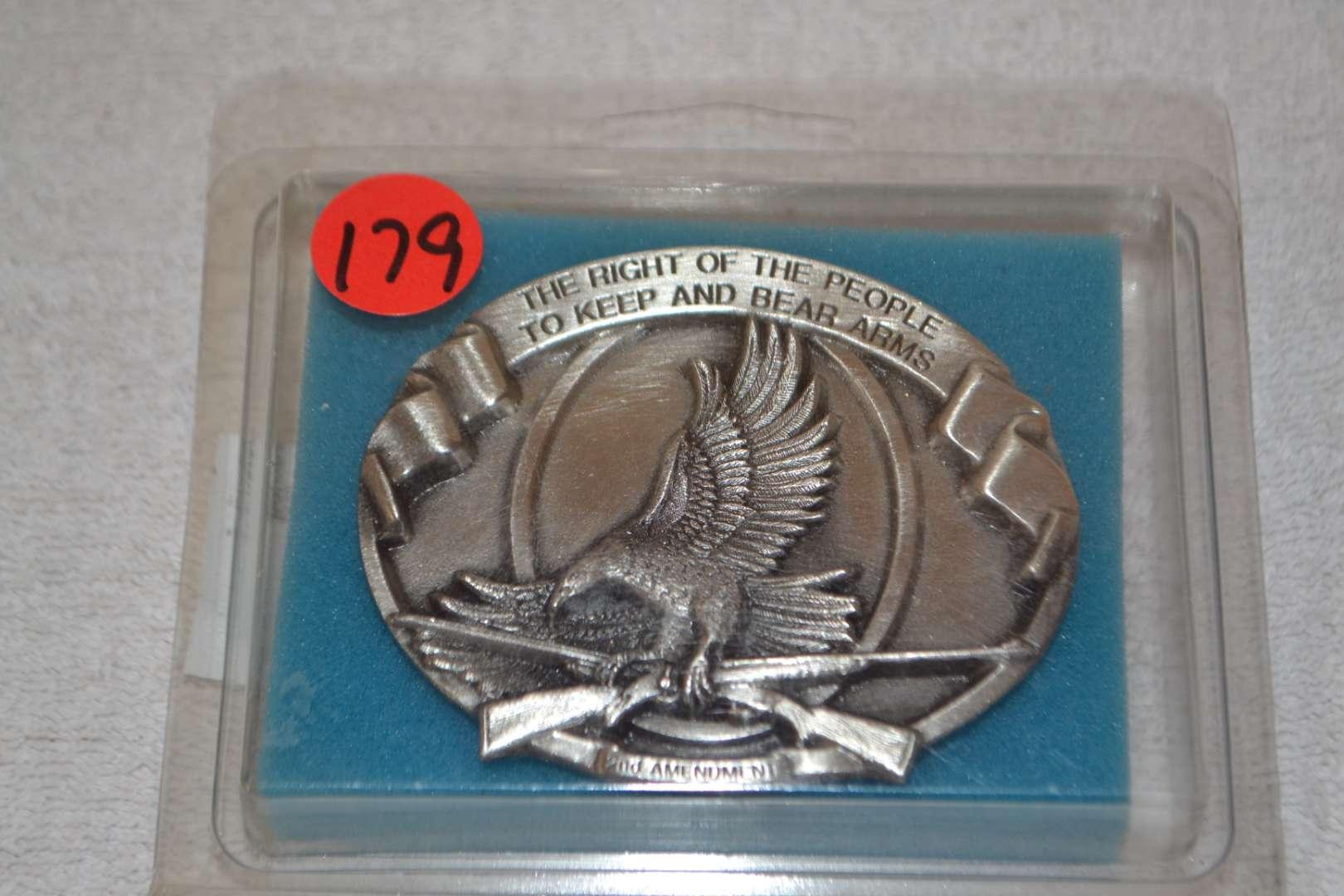 Lot # 179 NRA GOLDEN EAGLE BELT BUCKLE
