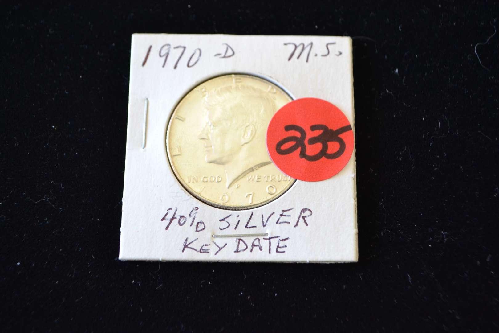 Lot # 235 1970 D SILVER HALF DOLLAR (KEY DATE)