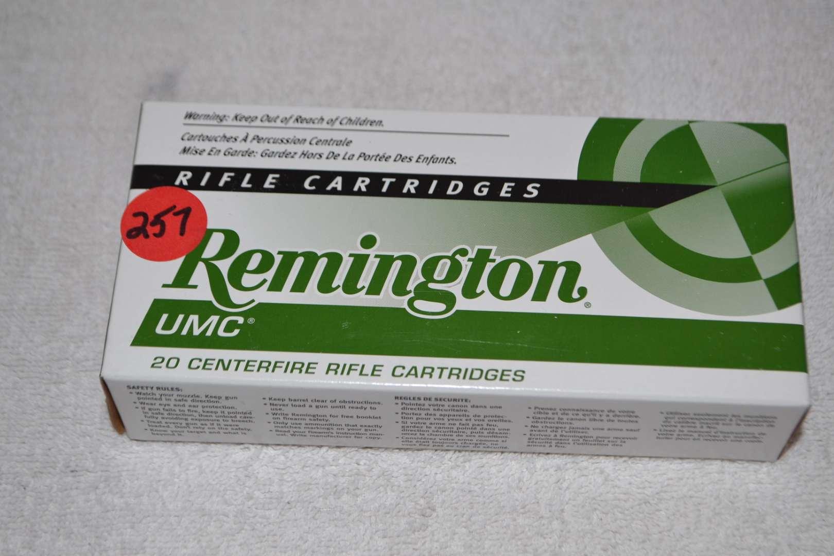 Lot # 257 REMINGTON UMC 223 CARTRIDGES 20 ROUNDS