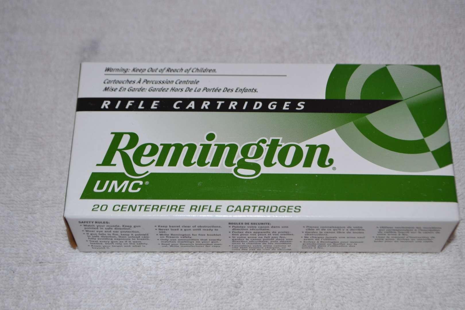 Lot # 258 REMINGTON UMC 223 CARTRIDGES 20 ROUNDS