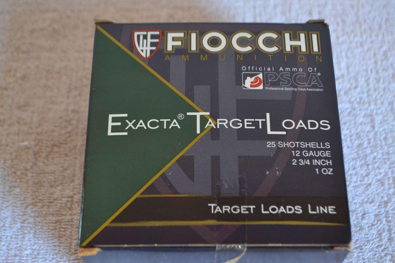 "Lot # 287 FIOCCHI AMMUNITION 25 SHOT SHELLS 12 GA 2 3/4"""