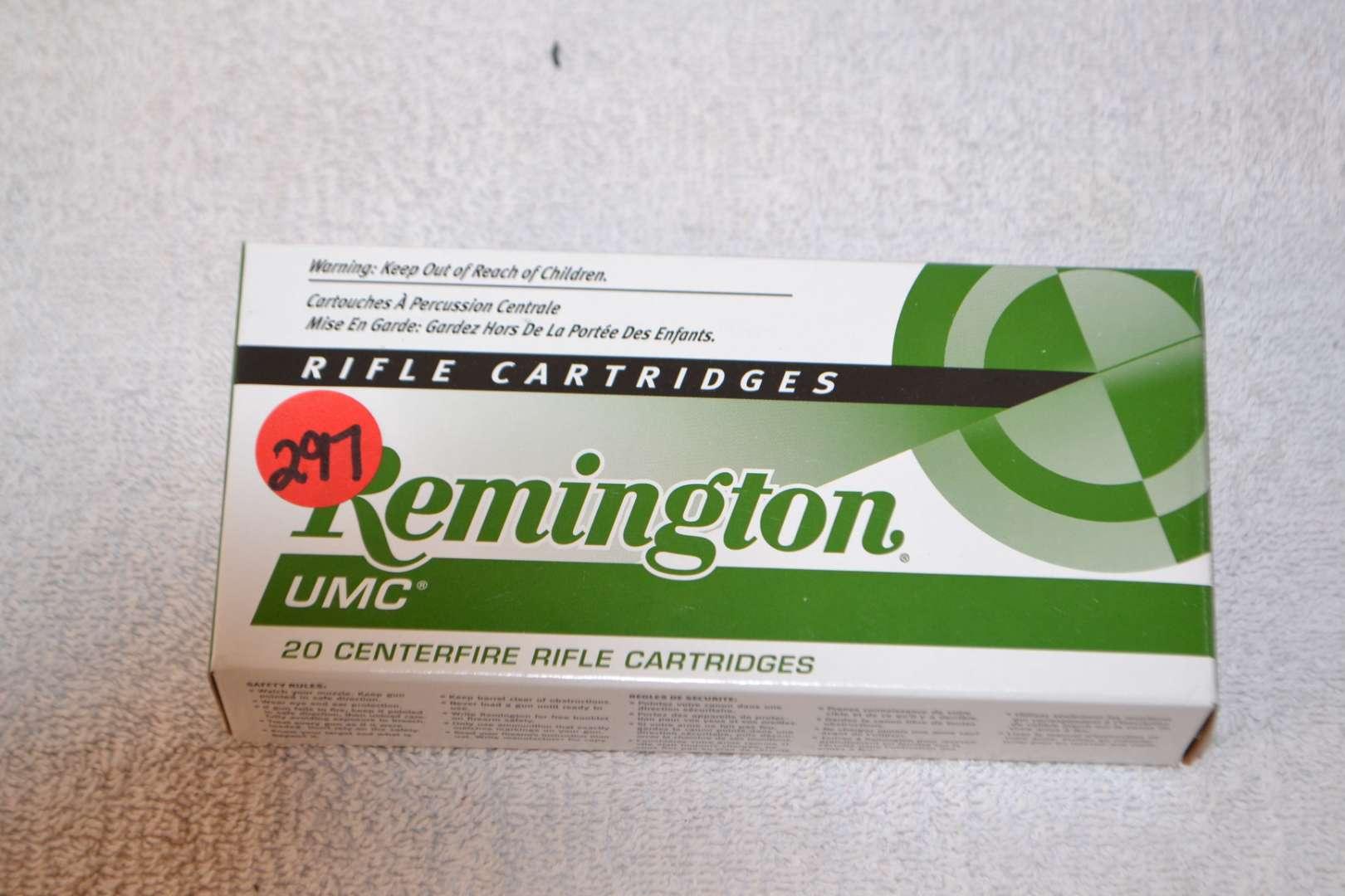 Lot # 297 223 REMINGTON RIFLE CARTRIDGES 20 CENTER FIRE 62 GR