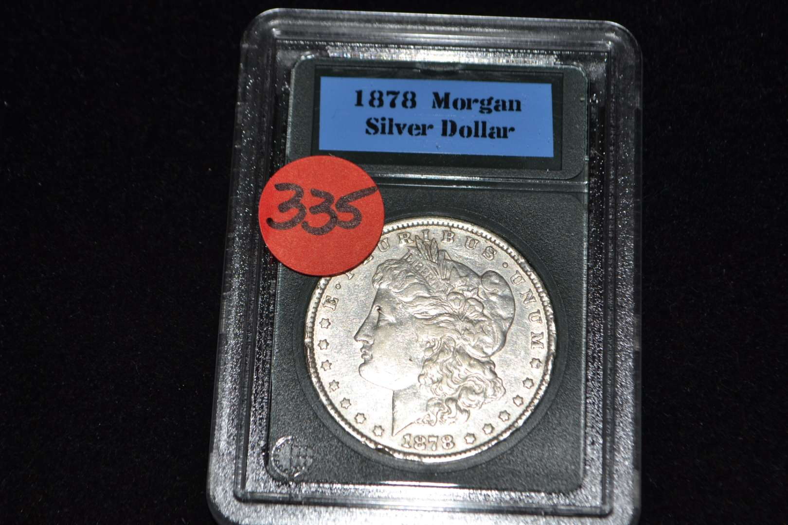 Lot # 335 1878 MORGAN SILVER DOLLAR W/7 TAIL FEATHERS