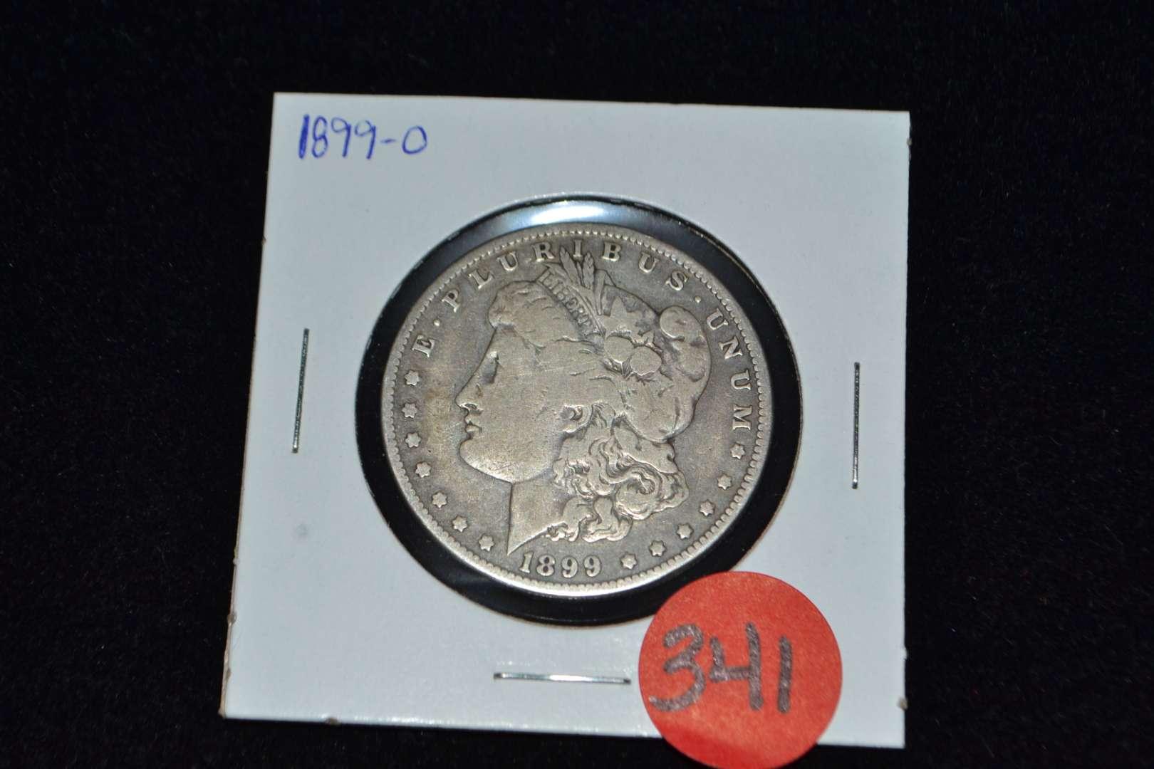 Lot # 341 1899 O MORGAN SILVER DOLLAR